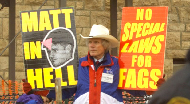 Fred Phelps, shown here in 1999 in Laramie, Wyo., did not represent Christ or His teachings with his hate speech.