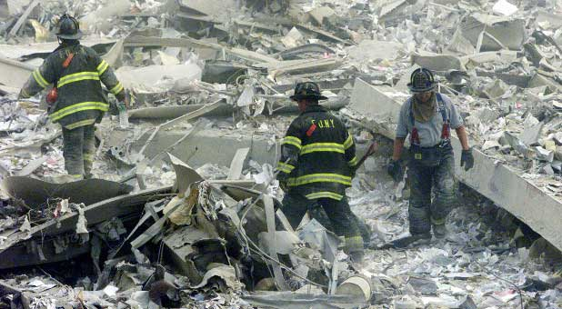 NYC firefighters on Sept. 11, 2001