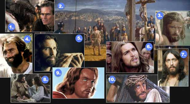 Ten faces of Jesus in the movies.