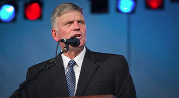 Franklin Graham at the podium