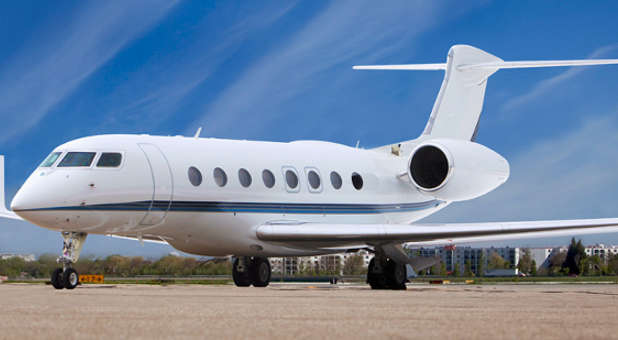 This is a Gulfstream 650 jet, like the one Creflo Dollar wanted to purchase.