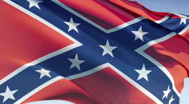 If you're flying a Confederate flag, take it down. It sends a non-Christian message.