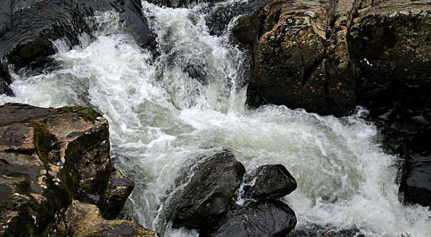 The voice of God is like the sound of rushing waters.