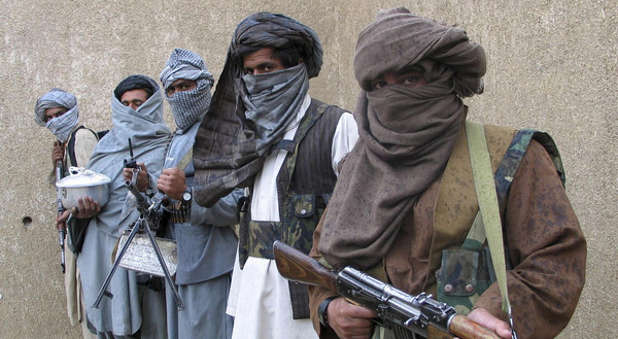 A group of Taliban terrorists in Pakistan