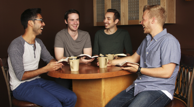 Spiritually happy men most likely belong to a small group.