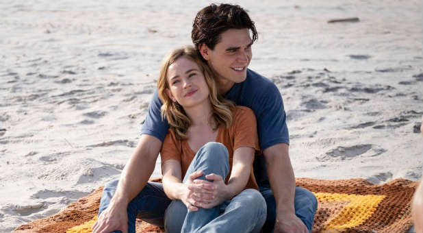 "K.J. Apa (Jeremy Camp) and Britt Robertson (Melissa Camp) in ""I Still Believe"""